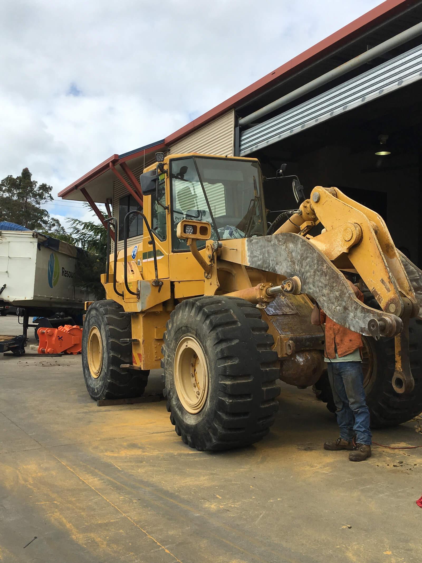 Earthmoving Equipment Refurbishments Before